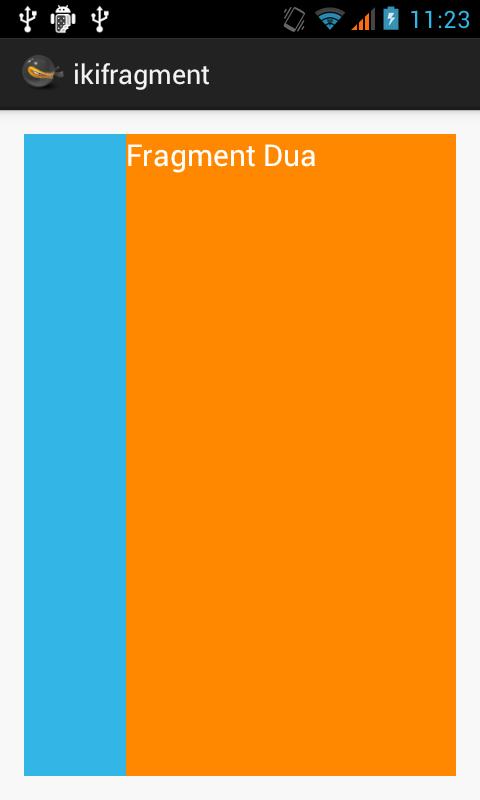 Contoh Penggunaan Fragment