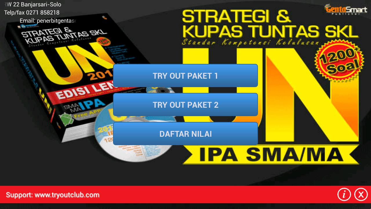 Tryout UN SMA IPA Genta Smart