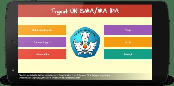 Mobile App : Simulasi UN SMA-IPA
