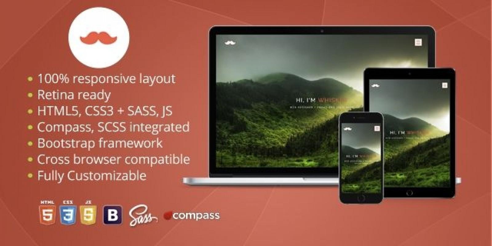 Whisker – Responsive HTML Portfolio Template