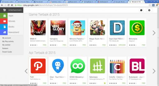 Screenshot-Terbaik di Tahun 2015 - Google Play - Chromium