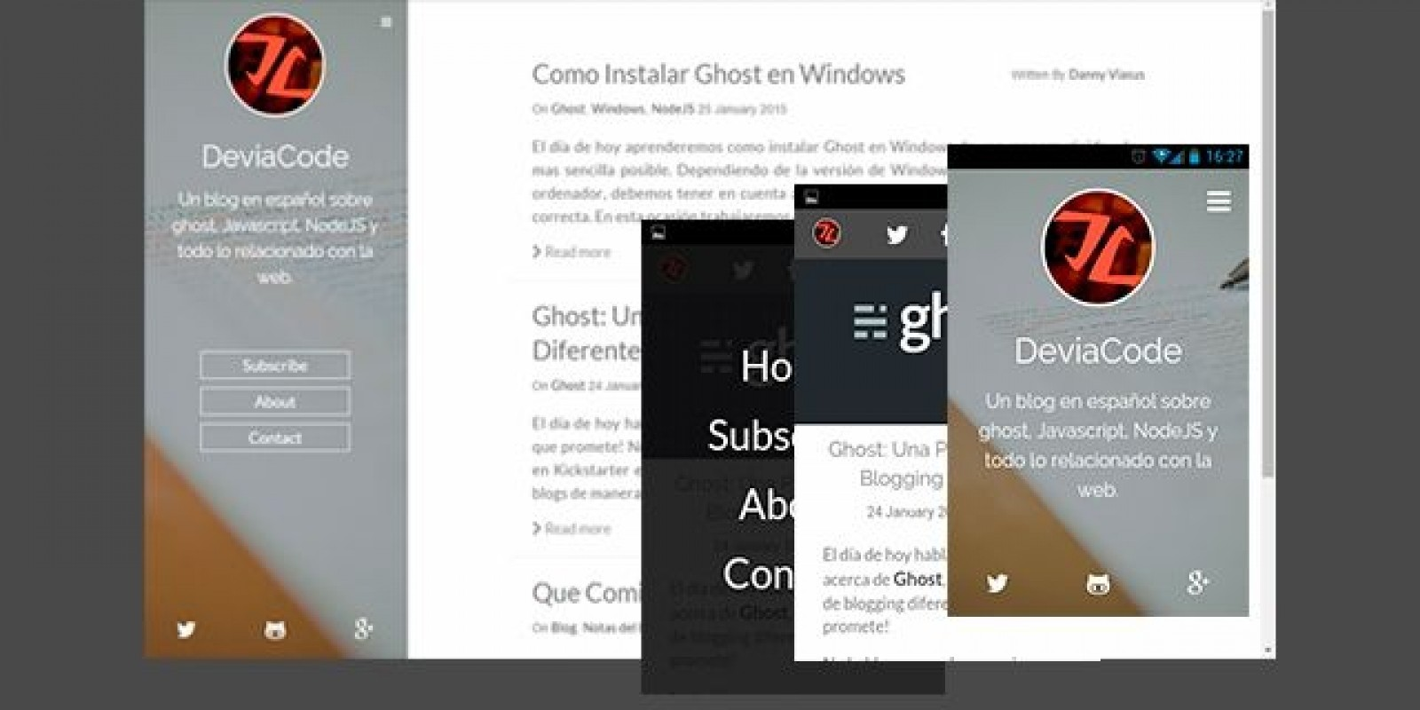 Stone Clarity – Responsive Ghost Theme