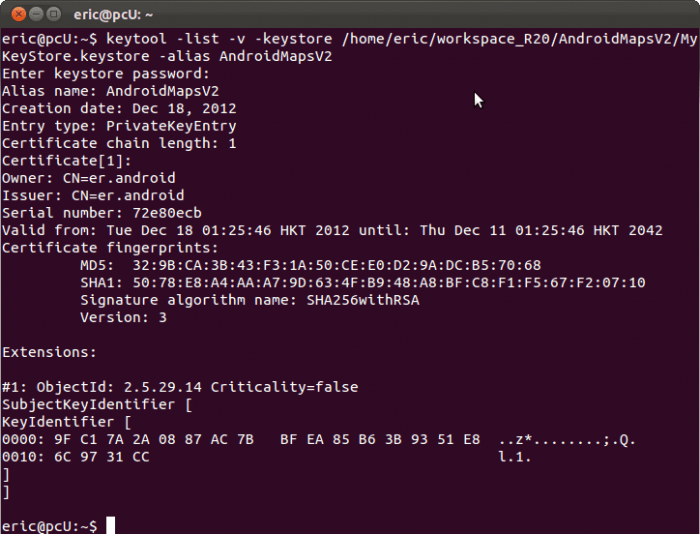 http://android-er.blogspot.co.id/2012/12/displaying-sha1-certificate-fingerprint.html