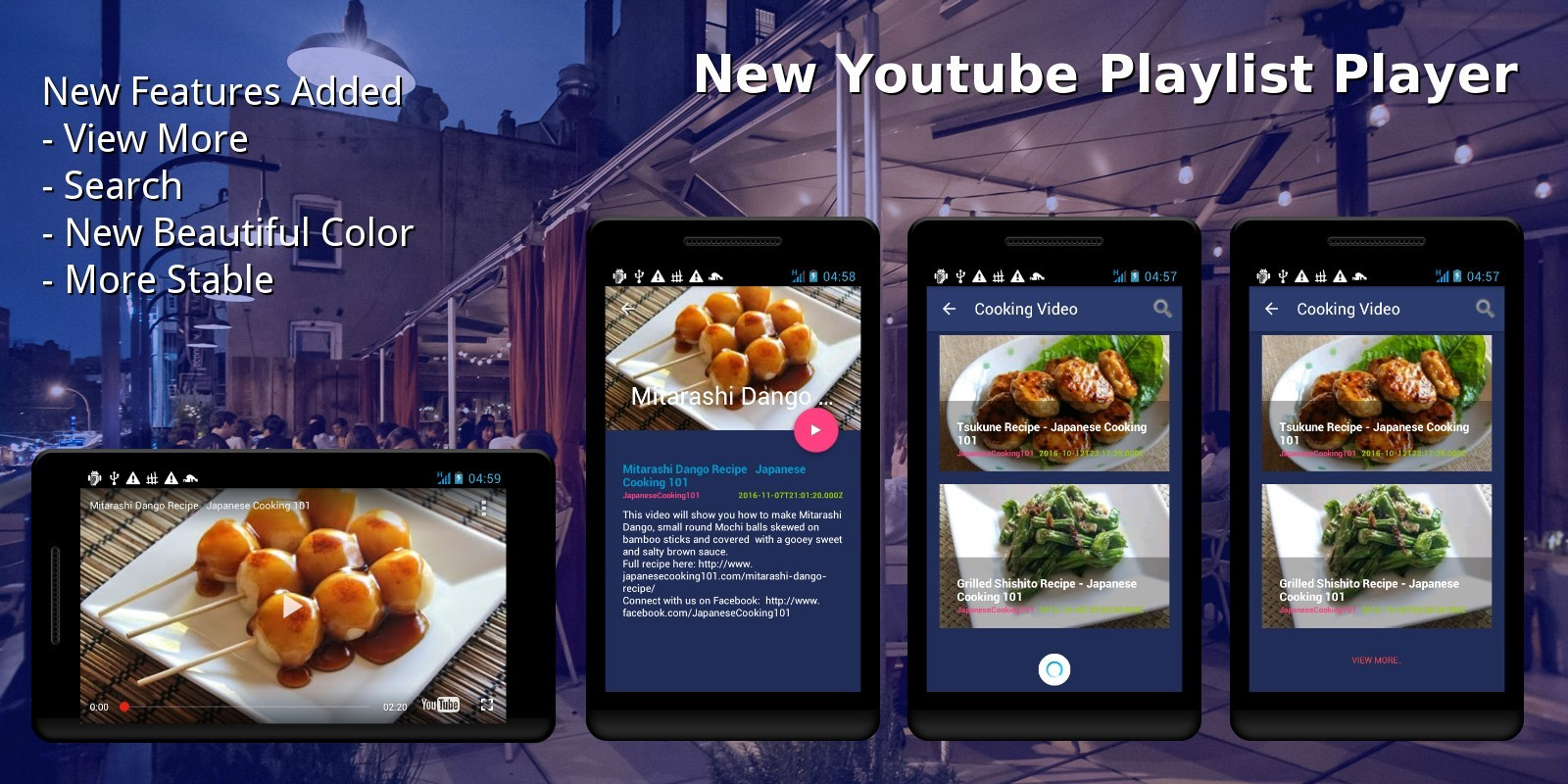 Youtube Playlist Player – Android App Template